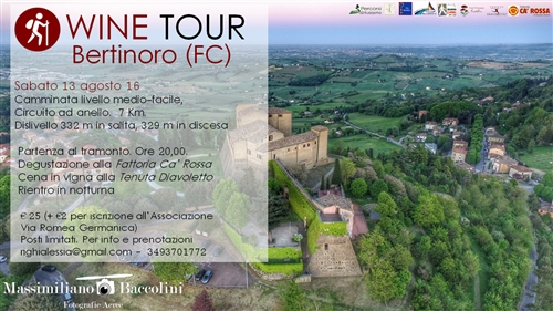 WINE TOUR BERTINORO - SABATO 13 AGOSTO