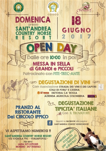 OPEN DAY AL Sant'Andrea country horse resort